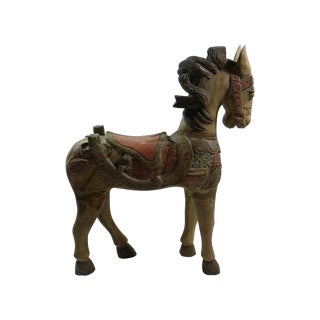 Large Indonesian Carved Horse