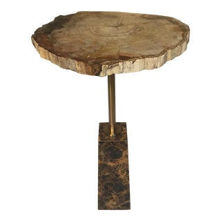Petrified Wood Top With Marble Base