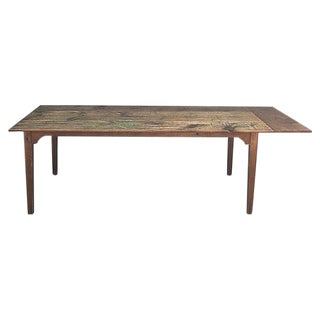 French Vintage Naturally Distressed Pine Farm Table