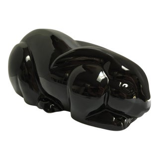 Mikasa Japan Black Porcelain Bunny Rabbit