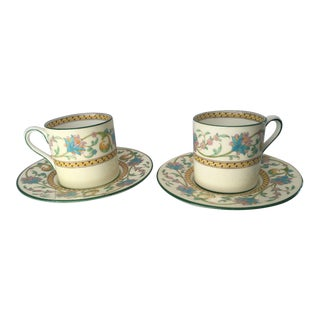 Wedgwood Demitasse Cups & Saucers - A Pair