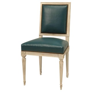 French Painted Louis XVI Style Dining Chairs Set of 12