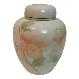 Cream Floral Ginger Jar