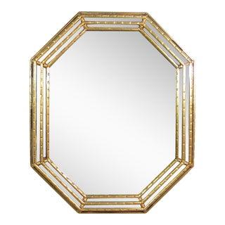 Italian Faux Bamboo Gilt Mirror