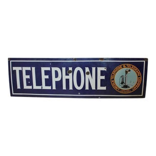 1920s Lincoln Telephone and Telegraph Company Sign