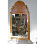 Image of Tall Vintage Chinoserie Burl Mirror