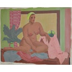 Image of Vintage Figurative Nude Oil Painting C.1940's