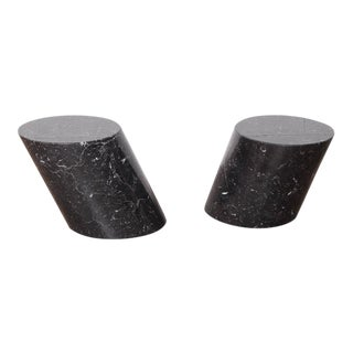 Pair of Marble Stump Tables by Lucia Mercer for Knoll