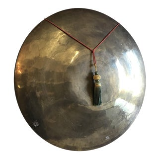 Large Brass Gong Wall Display