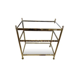 Midcentury Modern Brass and Glass Bar Cart