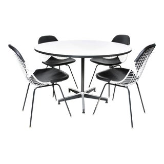 Charles Eames Dkx-2 Bikini Wire Dining Chairs & 650 Table