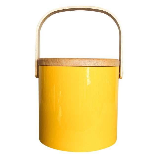 Georges Briard Yellow Ice Bucket - Image 1 of 9
