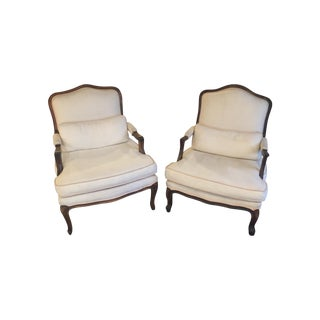 Cream Bergere Accent Chairs- A Pair