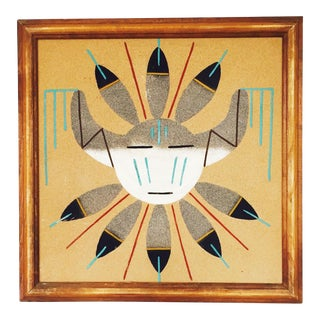 Vintage Native American Sand Art Painting