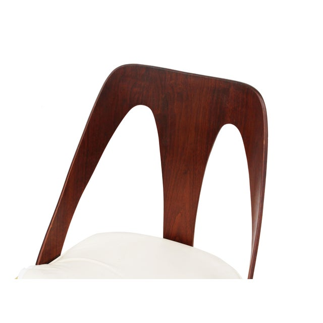 Mid Century Walnut Dining Chairs by Lawrence Peabody for Richard Nemschoff - Set of 6 - Image 6 of 6