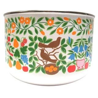 Mid-Century Colorful Enamel Bowl