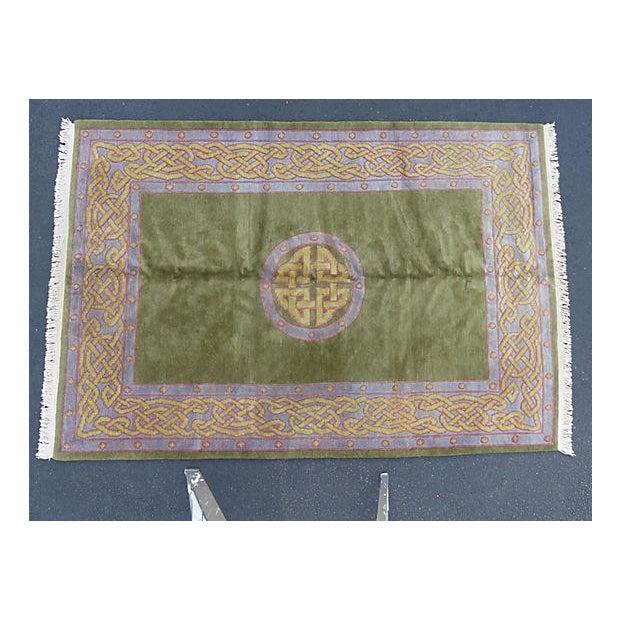 Nepalese Wool Rug- 6' x 9' - Image 2 of 11