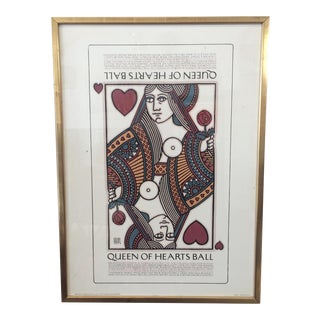 Goines Queen of Hearts Ball Lithograph