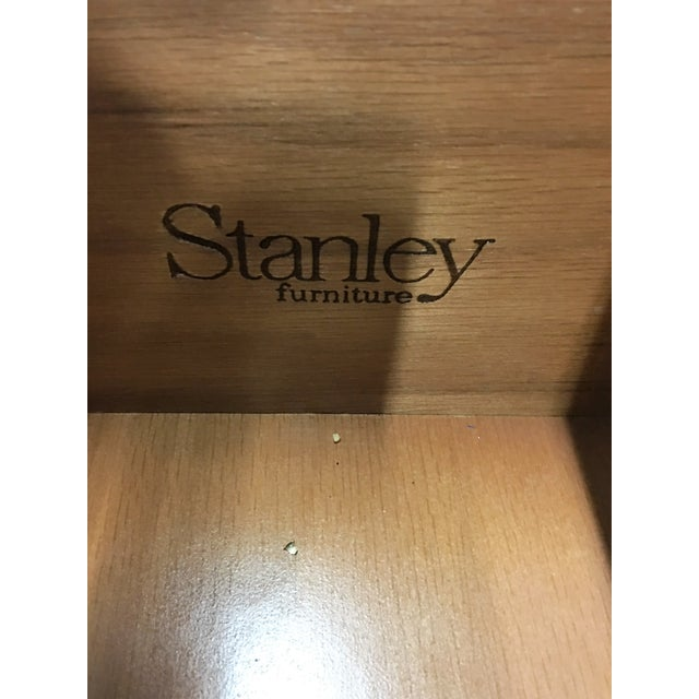 Vintage Stanley Solid Wood Dresser with Mirror - Image 6 of 10