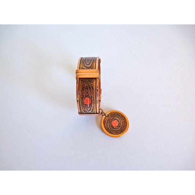 Image of Copper and Enamel Clamper Bracelet