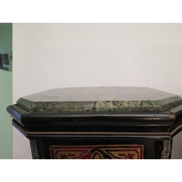 Antique Boulle Pedestals - a Pair - Image 6 of 6