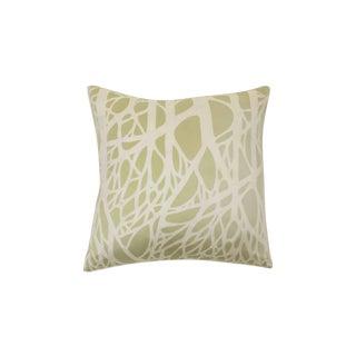 Silk Pale Green & Cream 'Branch' Pillow
