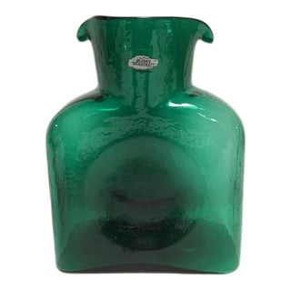 Blenko Green Double Spout Carafe