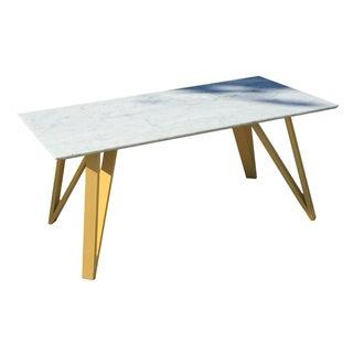 White Rectangular Dining Table/Desk