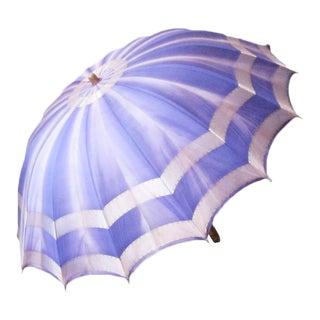 1930s Vintage Purple Parasol Umbrella