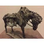 Image of Brutalist Metal Work Horse Tabletop Sculpture