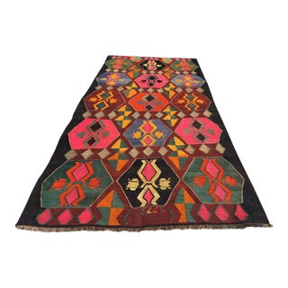 "Vintage Turkish Kilim Rug - 5'10"" X 13'2"""