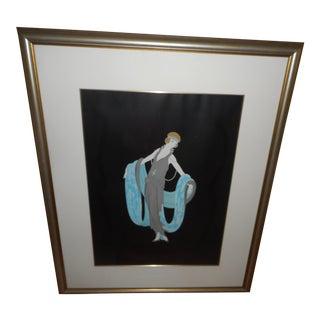 Framed Woman Art Deco Print
