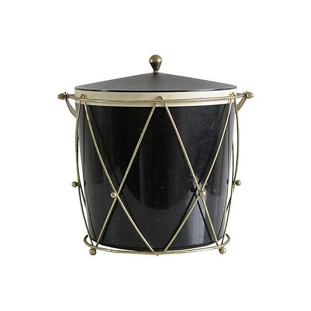 Black Plastic Drum-Style Ice Bucket & Caddy - Image 3 of 4