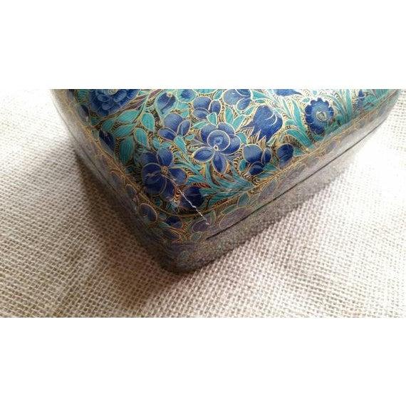 Vintage Papier-Mache Gold Lacquer Kashmiri Box - Image 5 of 5