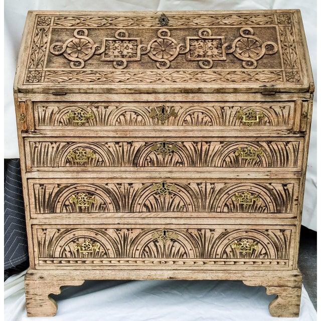 Antique English Oak Desk - Image 2 of 5