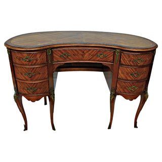 French Louis XV Style Walnut Desk