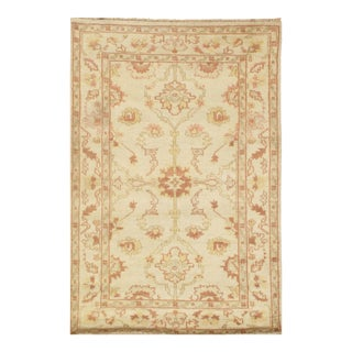 "Pasargad N Y Oushak Design Hand-Knotted Rug - 3'1"" X 4'7"""