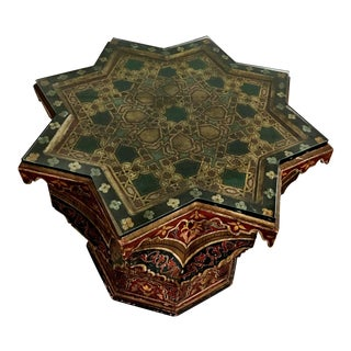 Moroccan Hand Carved Side Table