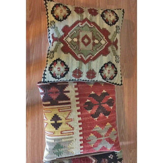 Dhurrie Tapestry Pillows - Set of 4 - Image 4 of 4