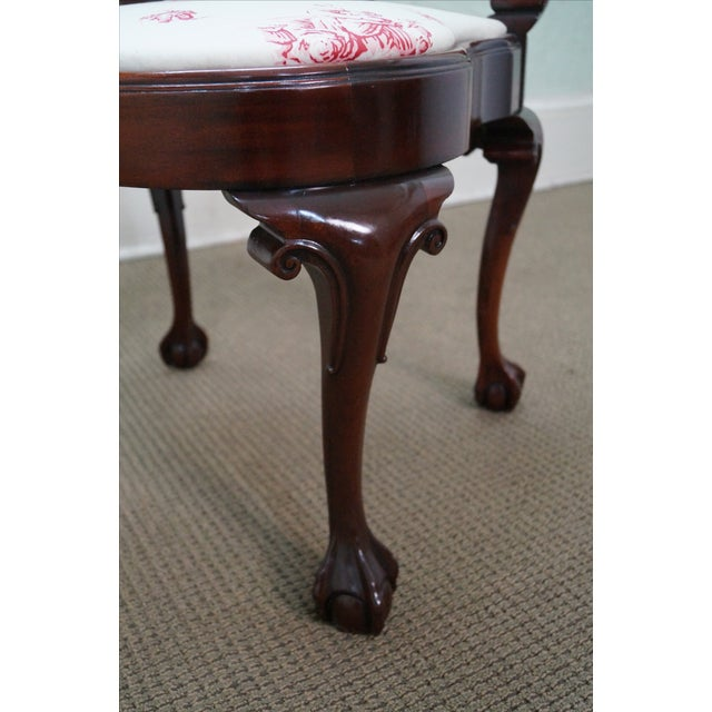Southwood Chippendale Style Claw Foot Corner Chair - Image 7 of 10