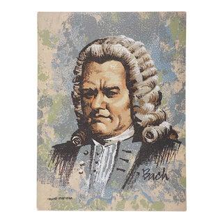 Vintage Ltd. Ed. Serigraph-Mark Coomer (Listed American Artist)-Composer Johann Sebastian Bach