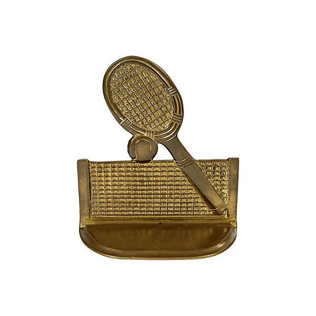 Image of 1960's Gilt Metal Tennis Bookends - Pair