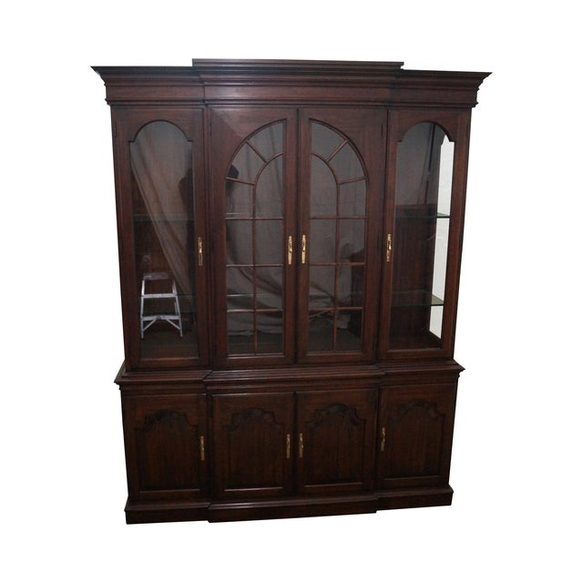 Image of Harden Solid Cherry Chippendale China Cabinet