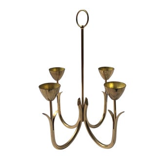 Vintage Brass Candle Chandelier