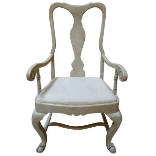 Swedish White-Washed Style Armchair
