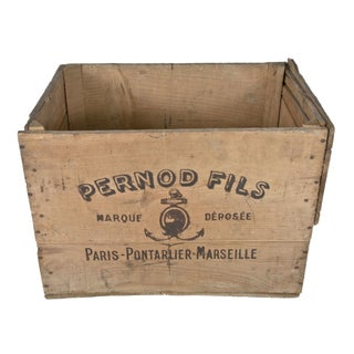 1900's French Pernod Fils Absinthe Wood Crate