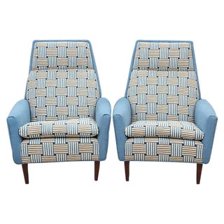 Dux Swedish Mid-Century Armchairs - A Pair