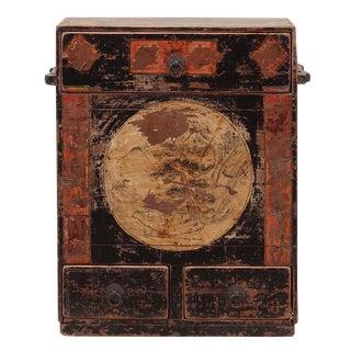 Sarreid LTD C. 1920 Chinese Painted Cabinet