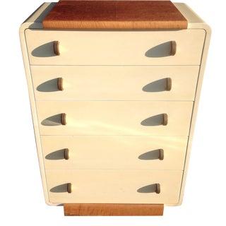 Donald Deskey Art Deco Tall Dresser