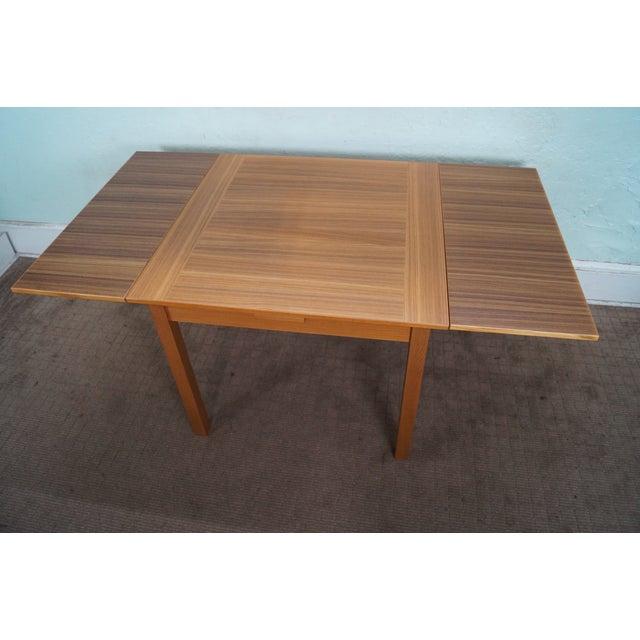 Danish Modern Teak Refractory Square Dining Table - Image 5 of 10